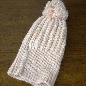Forever 21 Blush Pompom Knit Beanie NWOT